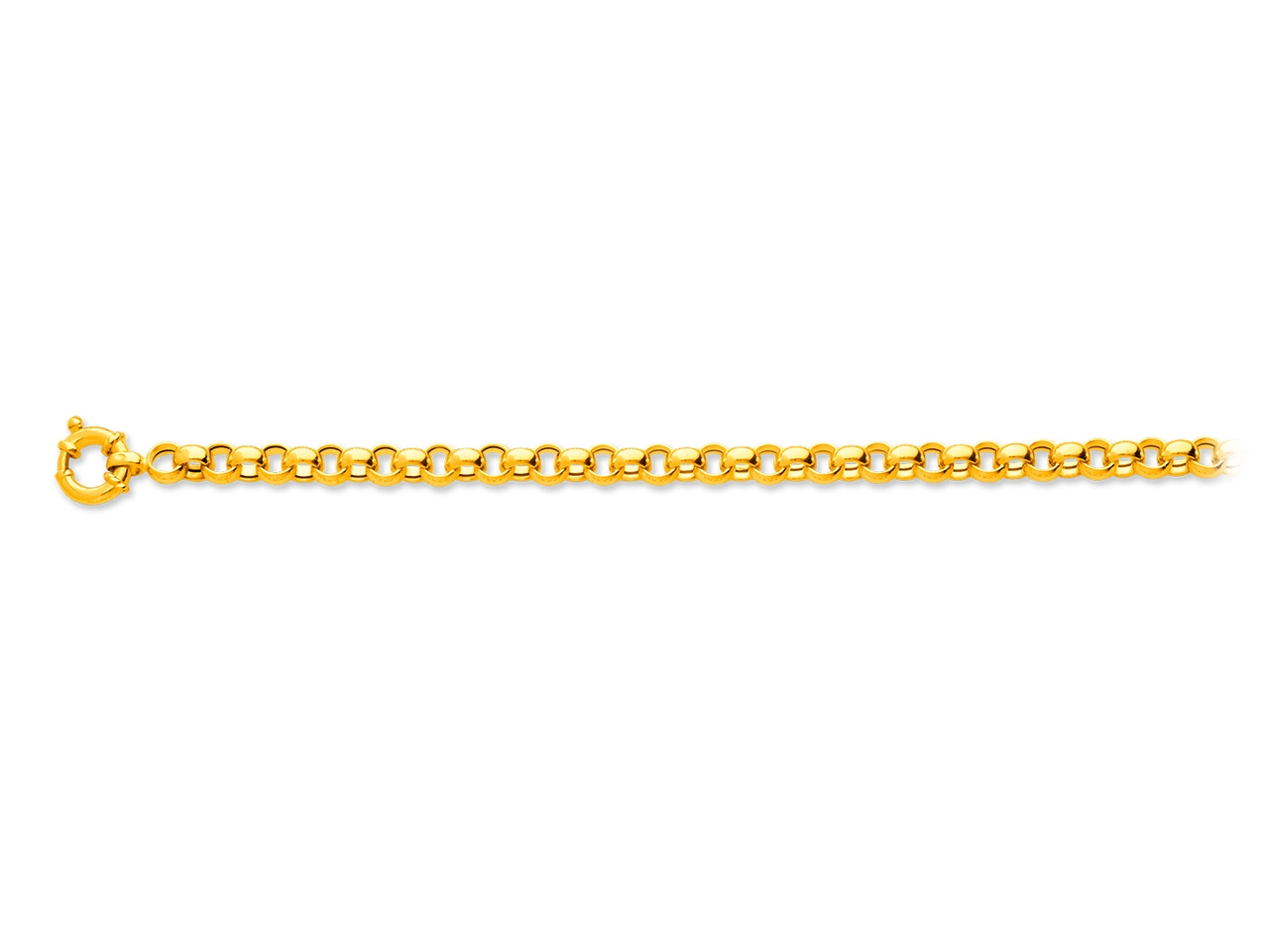 Collier maille jaseron, Or jaune 18k, 6 mm, 45 cm