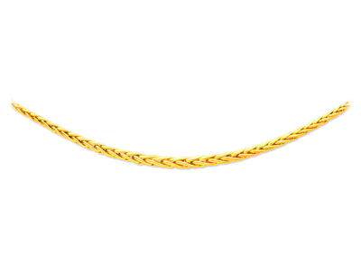 Collier maille palmier chute creuse 7,5 mm, 45 cm, Or jaune 18k