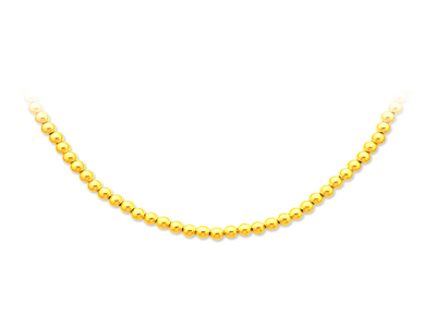 Collier boules parisien Or jaune 18k 4 mm 43 cm