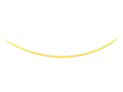Collier oméga bombé 2 mm, 42 cm, Or jaune 18k