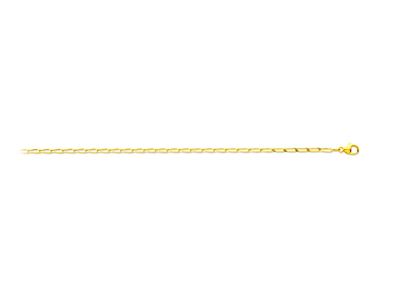 Collier maille cheval Or jaune 18k 2 mm 50 cm