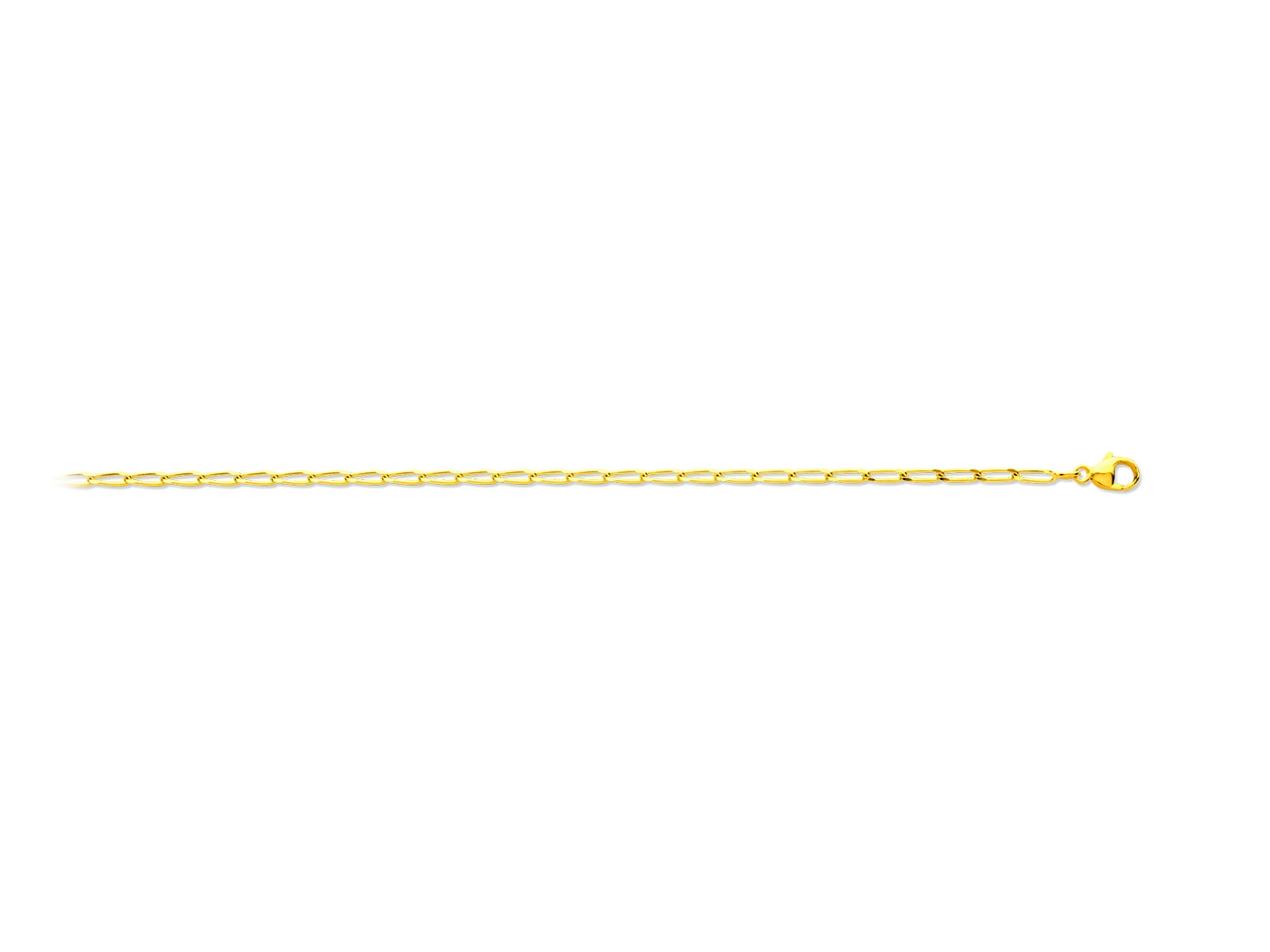 Collier maille cheval, Or jaune 18k, 2 mm, 50 cm