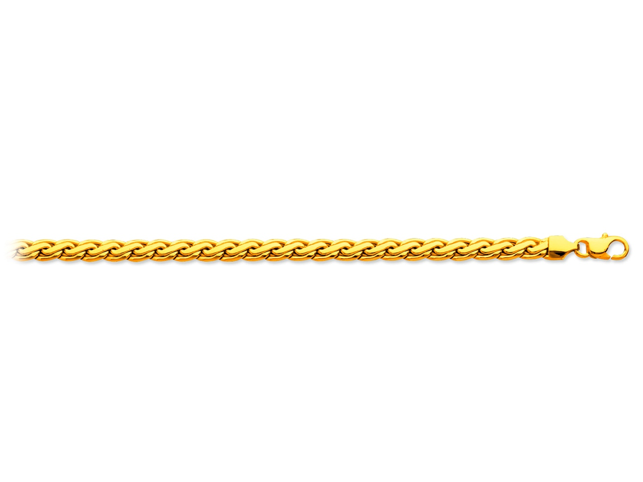 Collier maille palmier plat, Or jaune 18k, 5,5 mm, 45 cm
