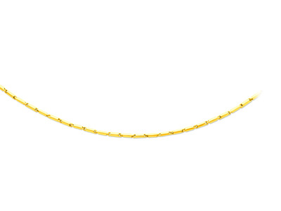 Collier tubes 2,3 mm, 50 cm, Or jaune 18k