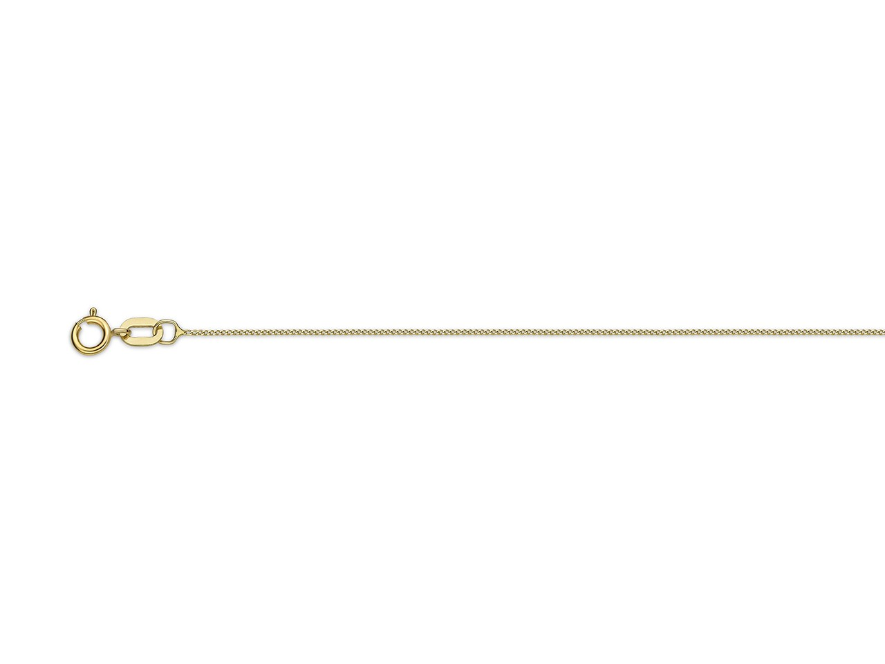 Collier Gourmette limée 0,60 mm, 40 cm, Or jaune 18k