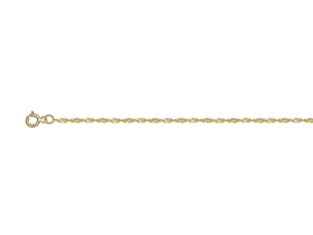 Collier Singapour 1,5 mm, Or jaune 18k, 45 cm