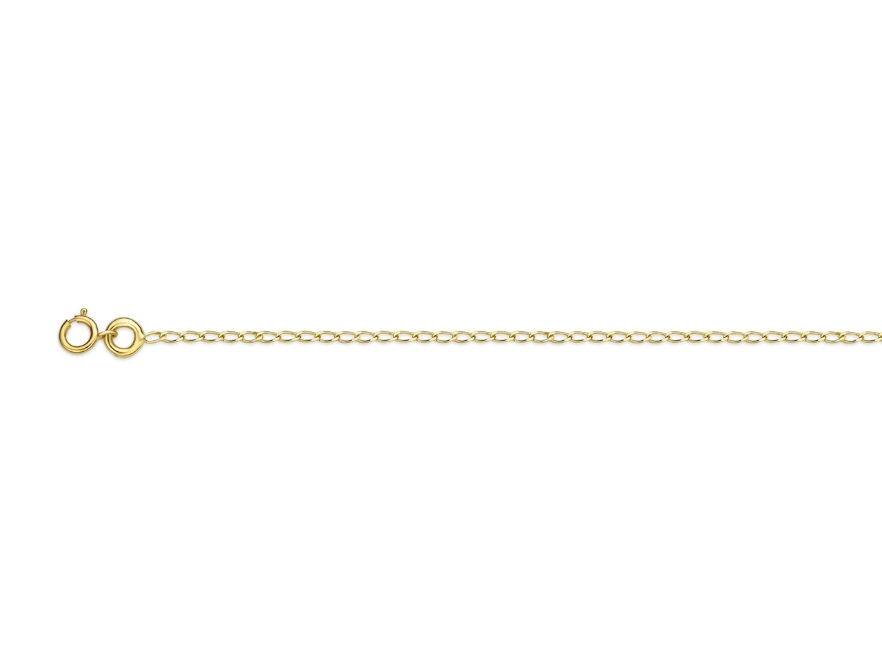 Collier Gourmette cheval 1,05 mm, 40 cm, Or jaune 18k