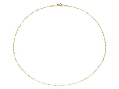 Collier Forat marine creuse 17  mm Or jaune 18k 55 cm
