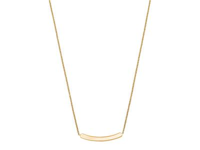 Collier Plaque courbée Or Jaune 18k 4042 cm