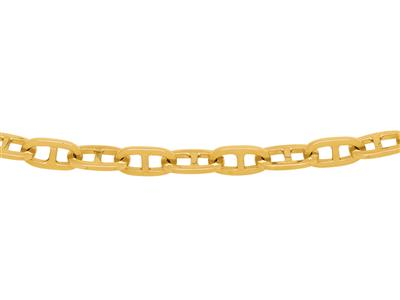 Collier marine massive Or Jaune 18k 55 cm