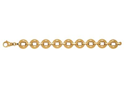 Bracelet Cercles volume, 19 cm, Or jaune 18k