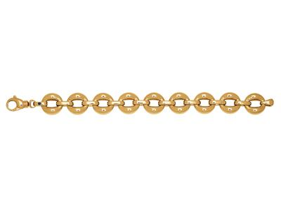 Bracelet Cercles volume, 20 cm, Or jaune 18k