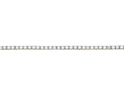 Bracelet Rivière de diamants 0,50ct, 17,5 cm, Or jaune 18k