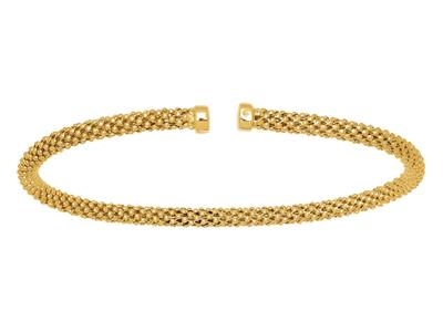 Bracelet Pop corn rigide ouvert, Or jaune 18k