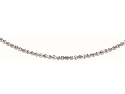 Collier Mailles Lentille grand modle Or Gris 50 cm