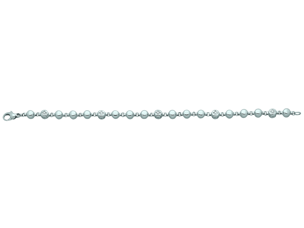 Bracelet petits cailloux, Or gris, diamants 0,54 ct