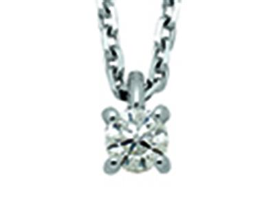 Collier-Or-gris-18k,-Solitaire-diaman...