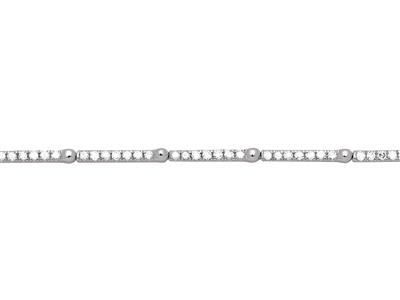 Bracelet Rivière de diamants 0,51ct, 17 cm, Or gris 18k