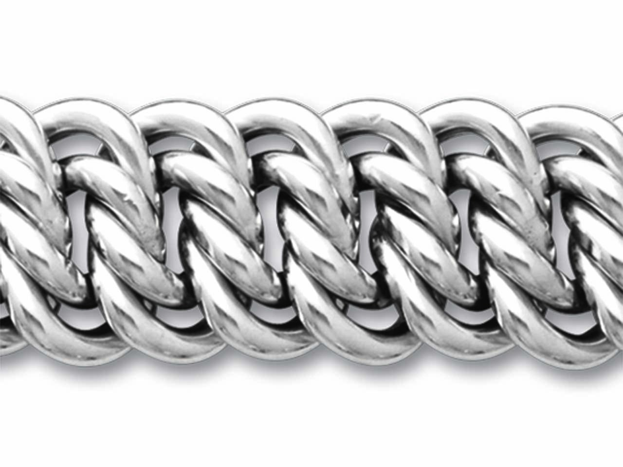 Bracelet maille americaine 15mm