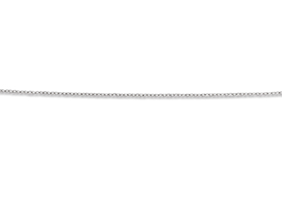 Collier Chane forat lime 1 mm Argent 925  42-45 cm