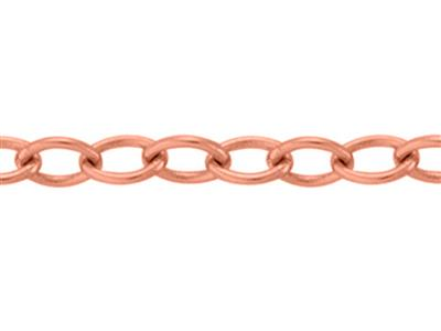 Chane maille Forat ronde claire 120 mm Or rouge 18k 5N. Rf. 00876