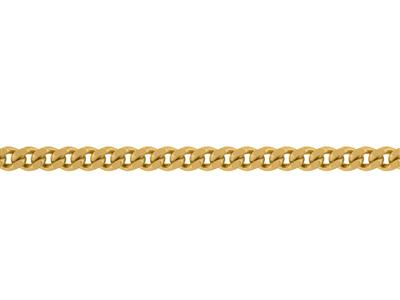 Chaine Gourmette diamante 17 mm Or jaune 18k. Rf. 00250
