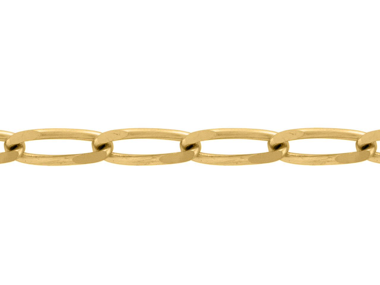 Chaine Maille cheval 2 mm, Or jaune 18k. Réf. 00847