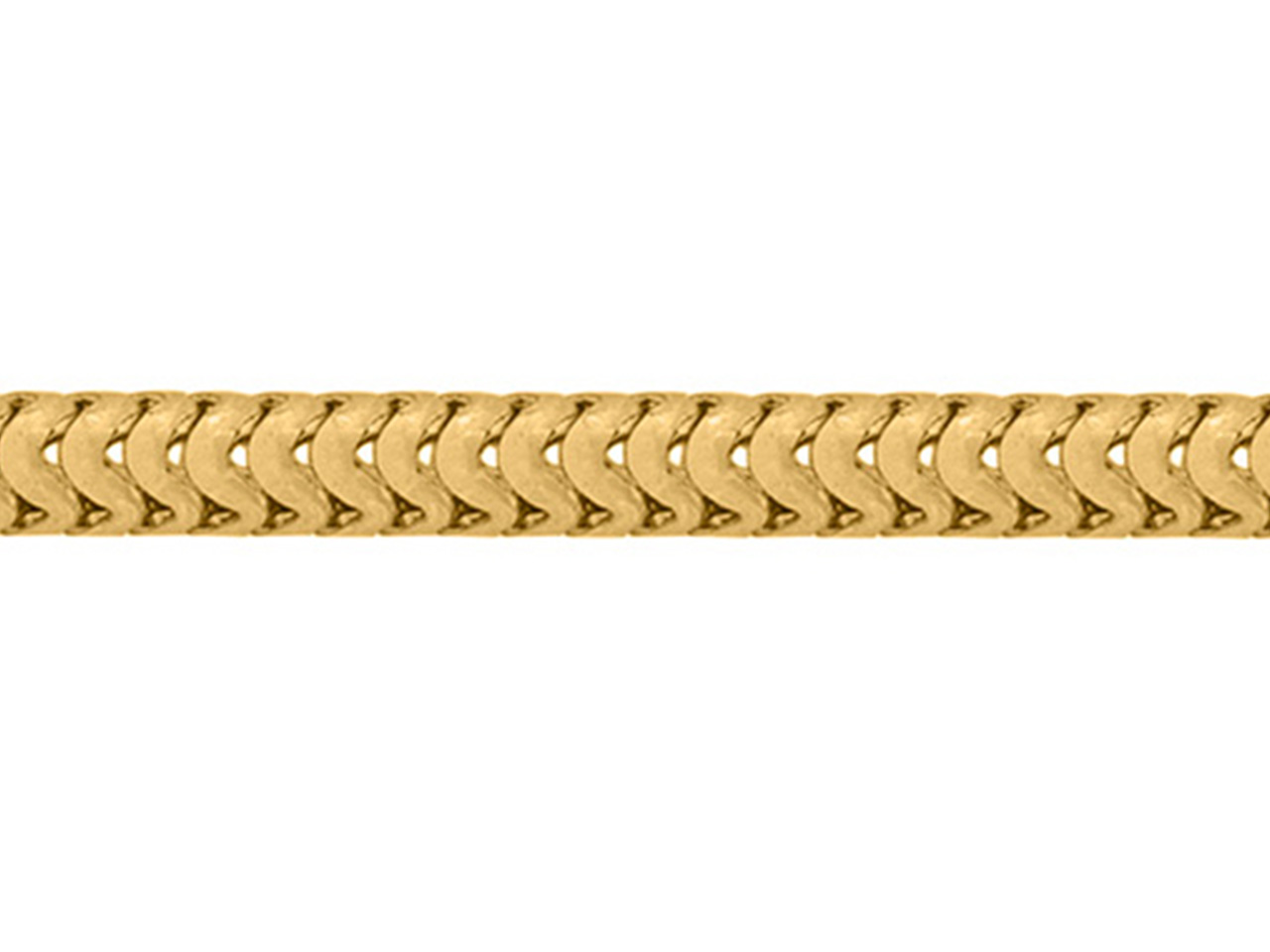 Chaine Serpent ronde, 1,2 mm, Or jaune 18k. Réf. 00152