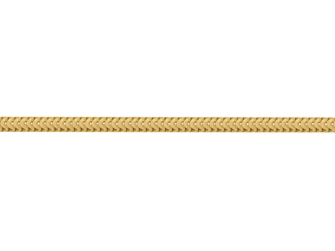 Chaine Serpent ronde, 2,4 mm, Or jaune 18k. Réf. 00791