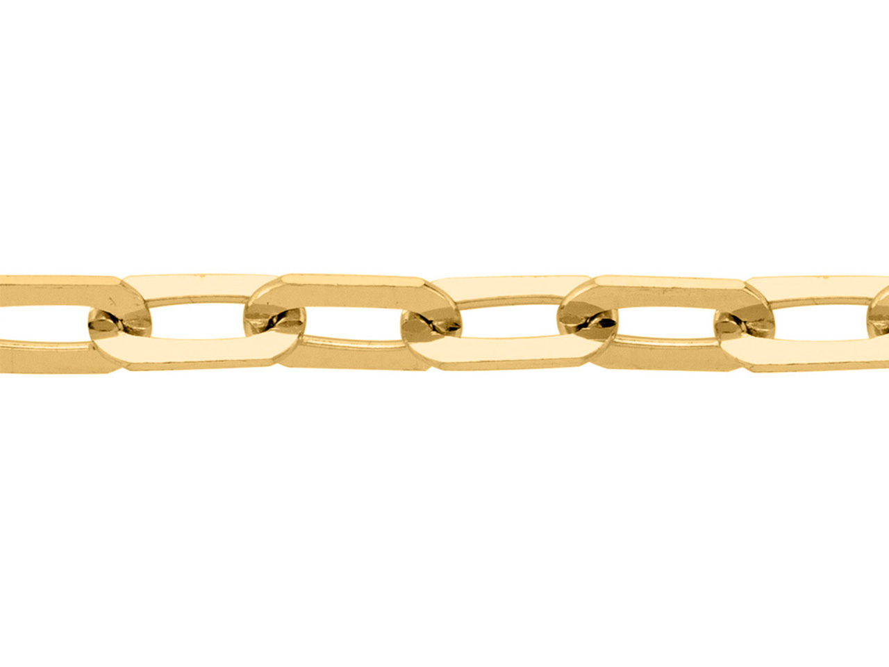 Chaine Maille rectangle 2,1 mm, Or jaune 18k. Réf. 002015
