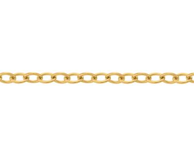 Chane Forat ordinaire claire 090 mm Or jaune 18k. Rf. 00875