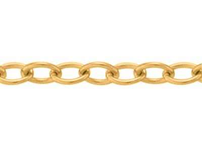 Chane maille Forat ronde claire 120 mm Or jaune 18k. Rf. 00876