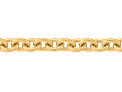 Chaine maille Forat ronde 37 mm Or jaune 18k. Rf. 00395