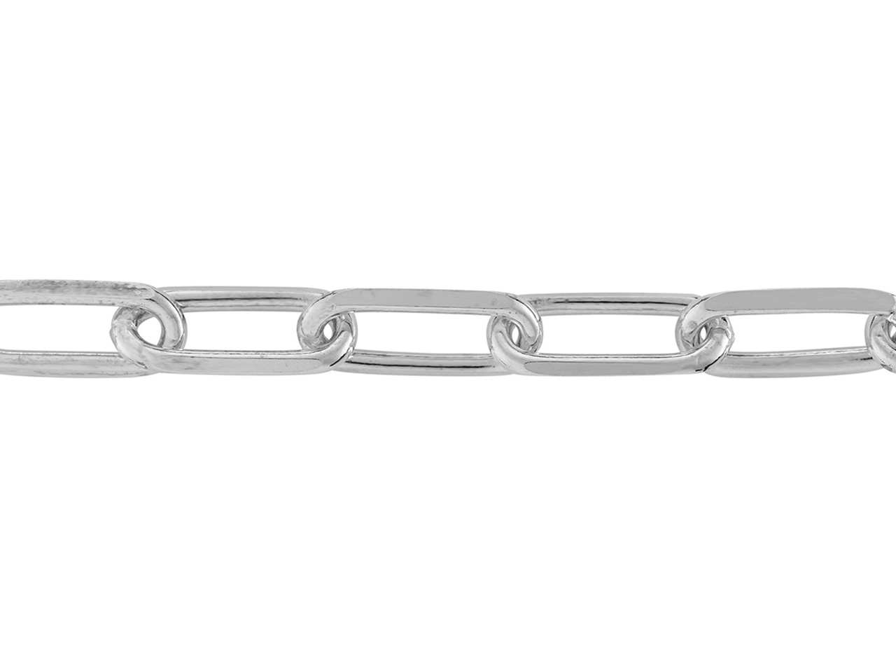 Chaine Argent maille Rectangle, 5 mm. Réf. 10072
