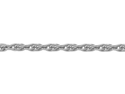 Chaine Argent maille Forat double 24 mm. Rf. 00683