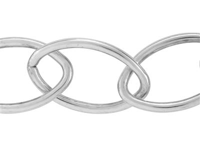 Chaine maille Navette 11 mm, Argent 925. Réf. 10066