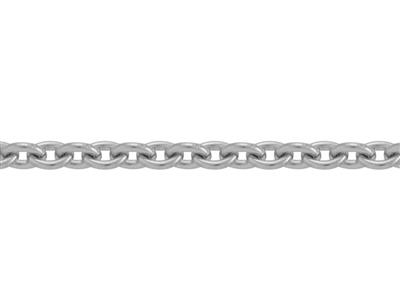 Chaine Argent maille Forat ronde 25 mm. Rf. 00365