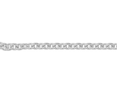 Chaine Argent maille Forat ronde 3 mm. Rf. 00380