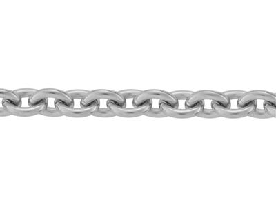 Chaine Argent maille Forat ronde 33 mm. Rf. 00390