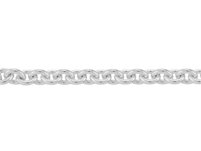 Chaine Argent maille Forat ronde 4 mm. Rf. 00400
