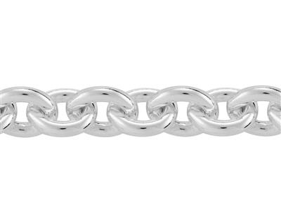 Chaine Argent maille Forat ronde 48 mm. Rf. 00410