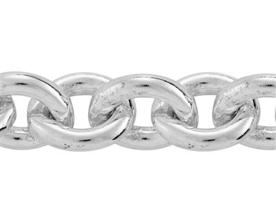Chaine Argent maille Forat ronde 61 mm. Rf. 00415