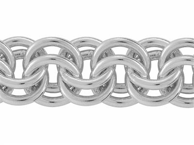 Chaine Argent maille Forat double 73 mm. Rf. 10159