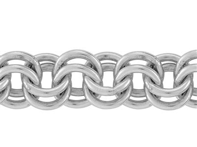 Chaine Argent maille Forat double 6 mm. Rf. 10158