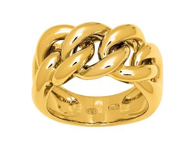 Bague maille Gourmette, Or jaune 18k, doigt 56