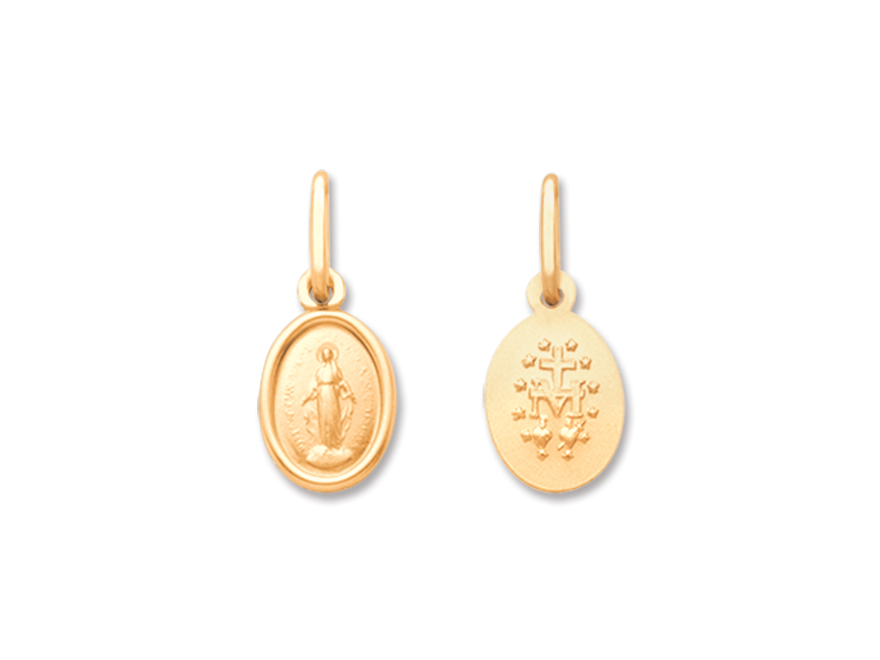 Médaille Vierge miraculeuse 9 mm, Or jaune 18k