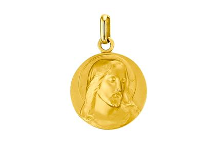 Mdaille Christ 18 mm Or Jaune 18k