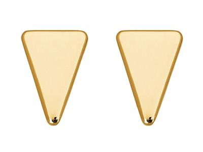 Boucles doreilles Triangles 12 mm, Or jaune 18k