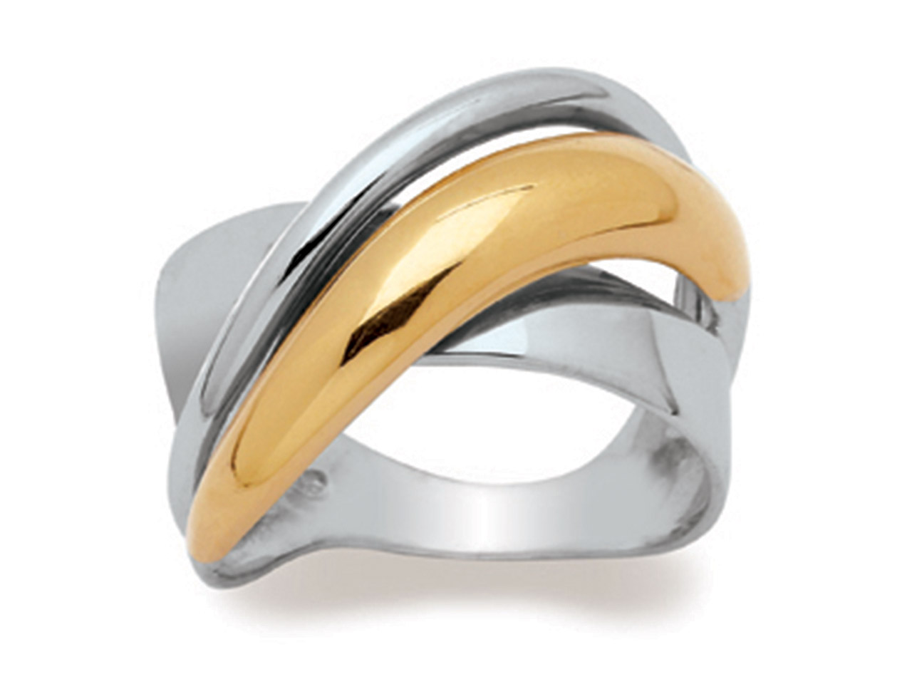 Bague 60472, Or bicolore 18k