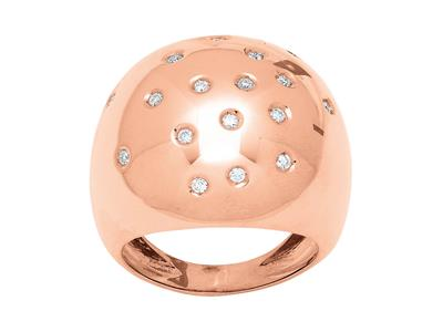 Bague Constellation, diamants 0,26ct, Or rose 18k, doigt 52